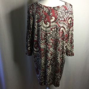 Cynthia Rowley Tops - CYNTHIA ROWLEY  V-Neck Long Sleeve Paisley Blouse